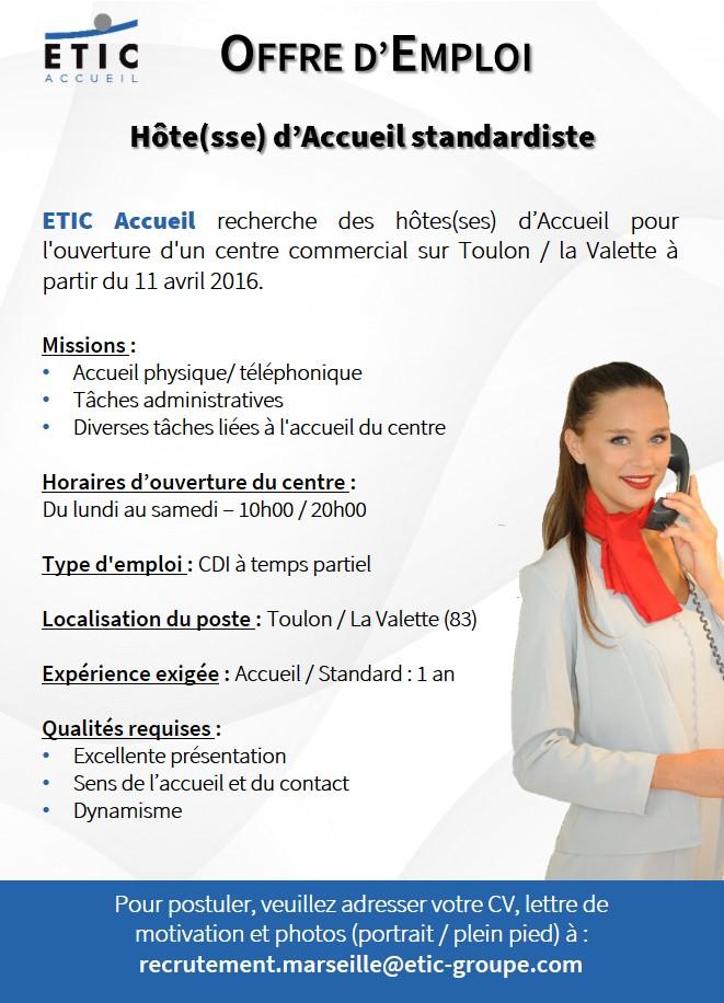 ETIC Accueil - Offre CC Toulon - Mars 2016